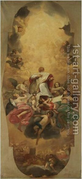 The Glory Of Saint Eusebius by Anton Raphael Mengs - Reproduction Oil Painting