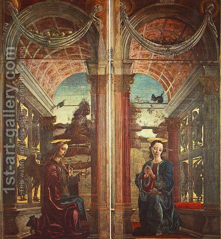 Annunciation 1469 by Cosme Tura - Reproduction Oil Painting