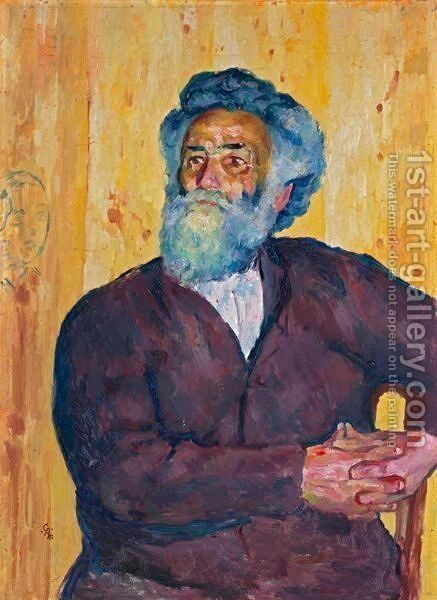 Farmer From Bergell - Bregagliotto, 1921 by Giovanni Giacometti - Reproduction Oil Painting
