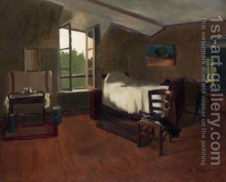 The Bedroom, 1909 by Marius Borgeaud - Reproduction Oil Painting