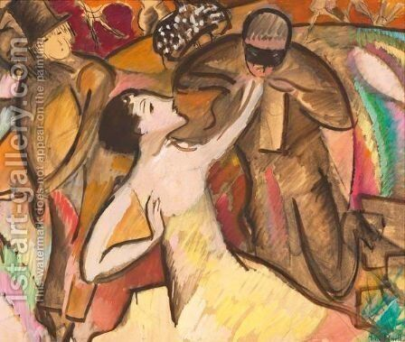 At The Ball (Rose-Marie Matthey) by Alice Bailly - Reproduction Oil Painting