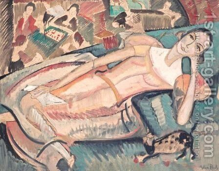 At Leisure (Portrait Of Wilma Toosby) by Alice Bailly - Reproduction Oil Painting