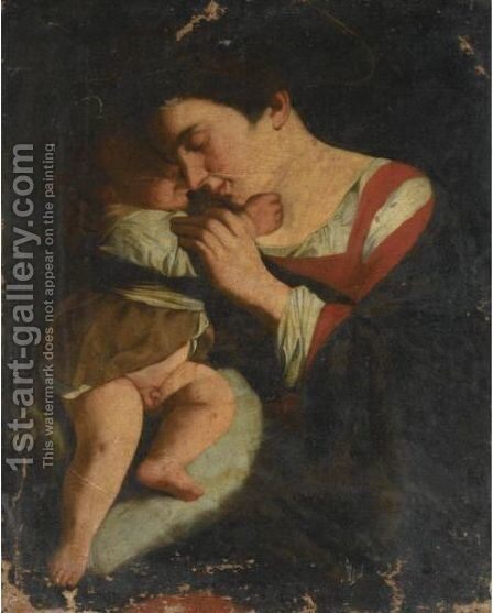 The Madonna And Child by (after) Orazio Gentileschi - Reproduction Oil Painting