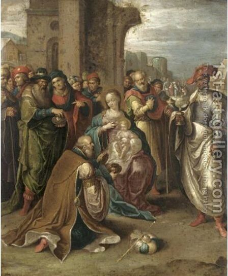 The Adoration Of The Magi 5 by (after) Frans II Francken - Reproduction Oil Painting