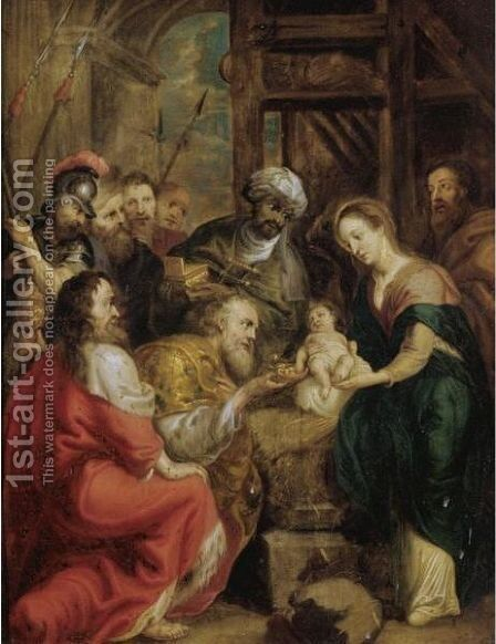 The Adoration Of The Magi 11 by (after) Sir Peter Paul Rubens - Reproduction Oil Painting