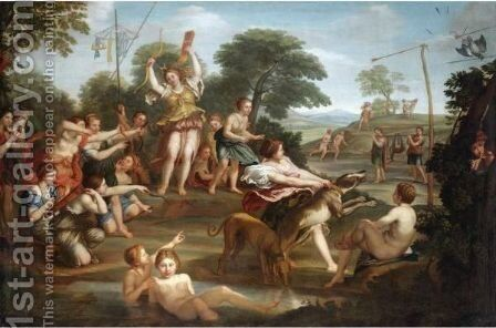 Diana And Actaeon by (after) Domenichino (Domenico Zampieri) - Reproduction Oil Painting