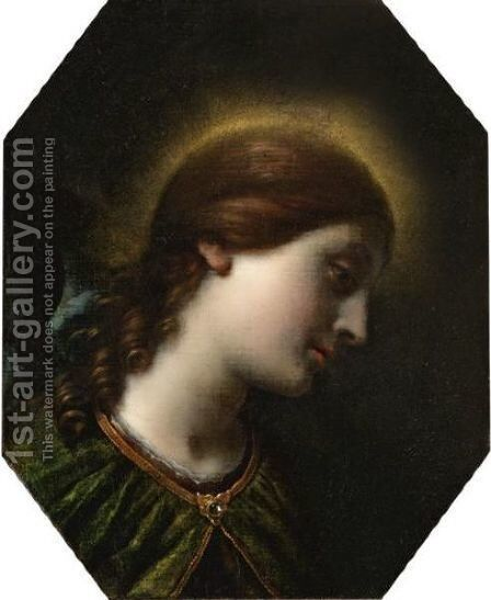 The Archangel Gabriel by (after) Carlo Dolci - Reproduction Oil Painting