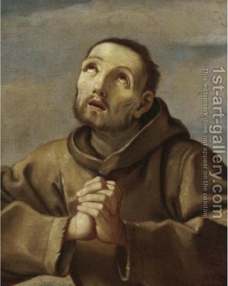 Saint Francis At Prayer by (after) Guido Reni - Reproduction Oil Painting