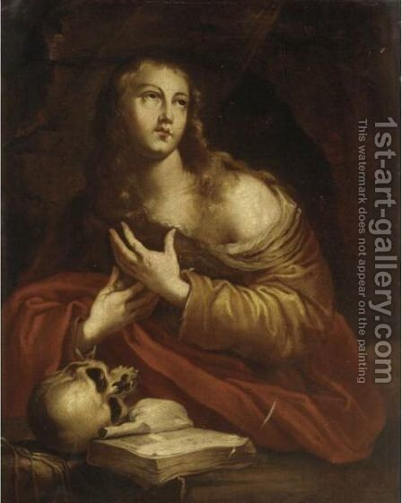 The Penitent Magdalene 2 by Italian School - Reproduction Oil Painting