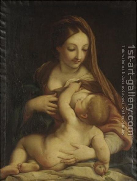The Madonna And Child 3 by (after) Carlo Maratta Or Maratti - Reproduction Oil Painting