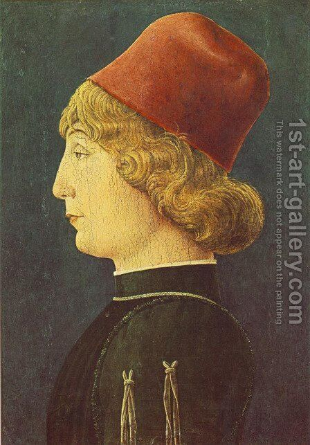 Portrait of a Young Man 1450-52 by Cosme Tura - Reproduction Oil Painting