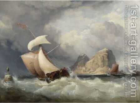 The Rock And The Royal Castle Of Dumbarton On The Clyde by Edward William Cooke - Reproduction Oil Painting