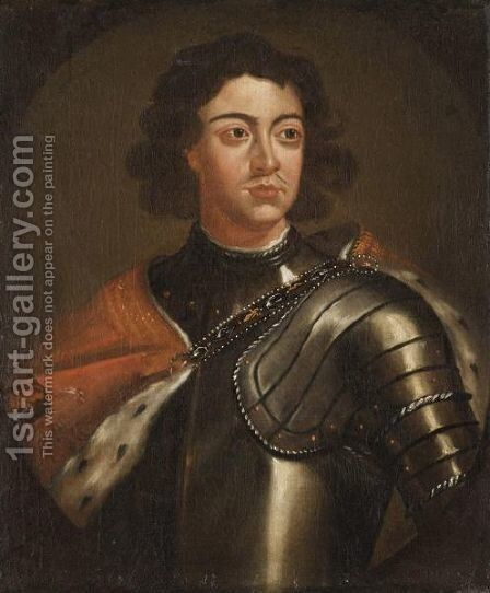 Portrait Of Peter The Great by (after) Kneller, Sir Godfrey - Reproduction Oil Painting
