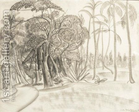 A Forest In Florida by Boris Dmitrievich Grigoriev - Reproduction Oil Painting