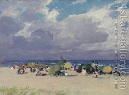 A Day At The Beach 3 by Edward Henry Potthast - Reproduction Oil Painting