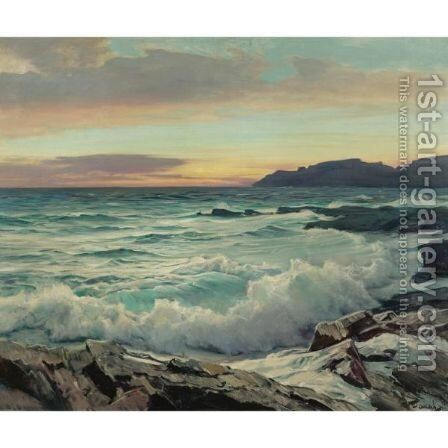 Dawn In The East by Frederick Judd Waugh - Reproduction Oil Painting