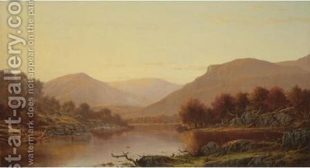 Autumn On The Lake by Charles Wilson Knapp - Reproduction Oil Painting