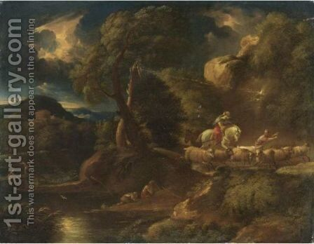 Il Temporale by (after) Pieter The Younger Mulier (Tampesta, Pietro) - Reproduction Oil Painting