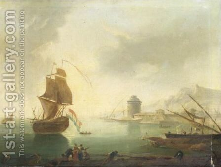 Marina 2 by (after) Claude-Joseph Vernet - Reproduction Oil Painting