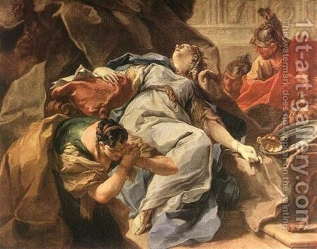 Death of Sophonisba by Giovanni Battista Pittoni the younger - Reproduction Oil Painting
