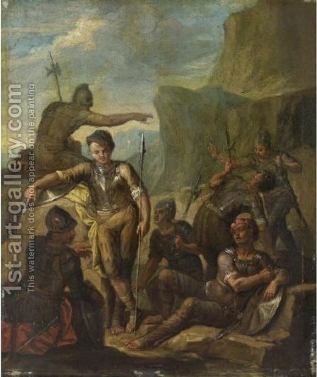 Soldati A Riposo by (after) Andrea Locatelli - Reproduction Oil Painting