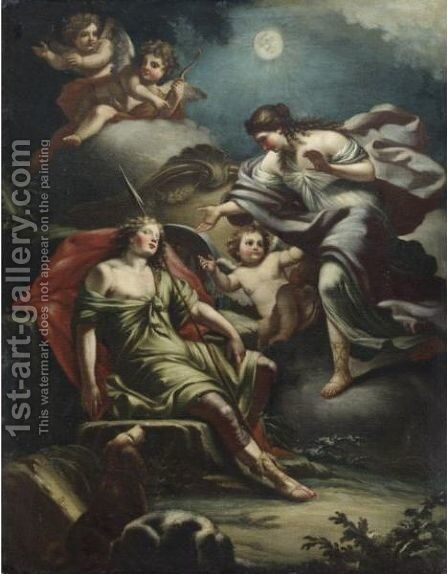 Diana Ed Endimione by (after) Filippo Falciatore - Reproduction Oil Painting