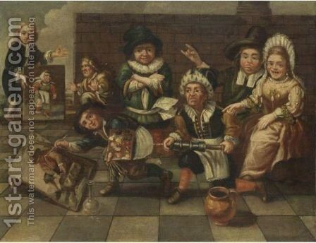 Lo Studio Del Pittore by (after) Bernardino Deho - Reproduction Oil Painting