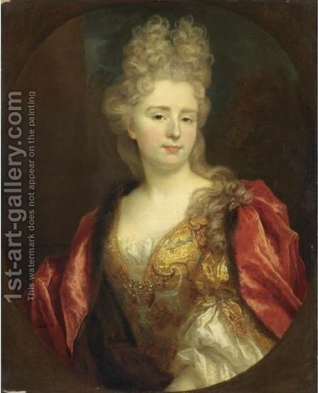 Ritratto Di Dama by (after) Nicolas De Largilliere - Reproduction Oil Painting