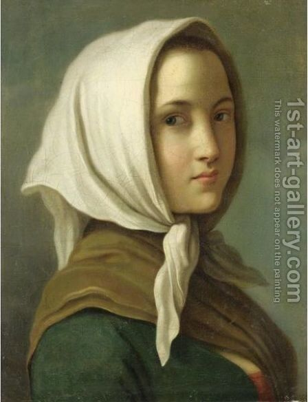 Ritratto Di Contadina by (after) Pietro Antonio Rotari - Reproduction Oil Painting