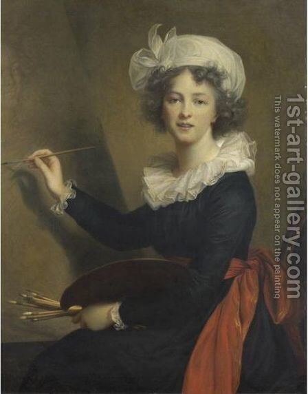Autoritratto by Elisabeth Vigee-Lebrun - Reproduction Oil Painting