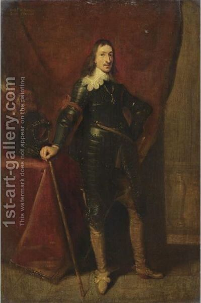 Ritratto Di Condottiero by (after) Dyck, Sir Anthony van - Reproduction Oil Painting