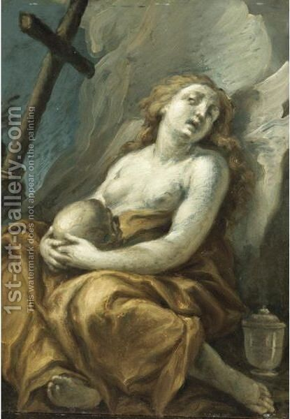 Maddalena by Giuseppe Antonio Pianca - Reproduction Oil Painting