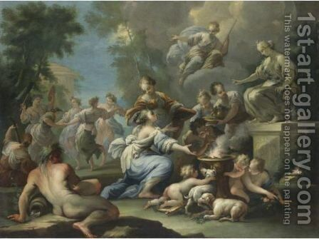 Offerta A Diana by Italian School - Reproduction Oil Painting