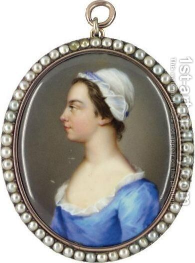 Portrait Of A Lady by Christian Friedrich Zincke - Reproduction Oil Painting