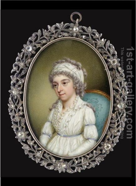 Portrait Of A Lady 2 by James Scouler - Reproduction Oil Painting