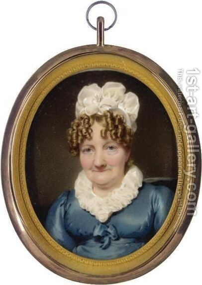 Portrait Of Mrs Vint by Hugh Ross - Reproduction Oil Painting