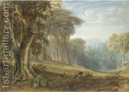 View Of Arundel Castle From Arundel Park, West Sussex by Anthony Vandyke Copley Fielding - Reproduction Oil Painting