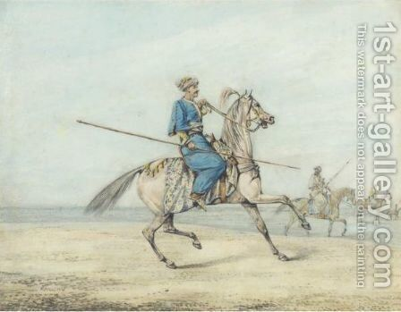 A Mameluke Warrior by Henry Thomas Alken - Reproduction Oil Painting