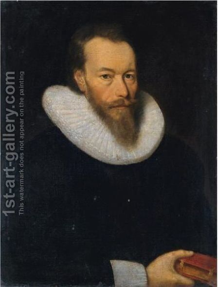 Portrait Of William Drummond Of Hawthornden (1585-1649) by (after) George Jamesone - Reproduction Oil Painting