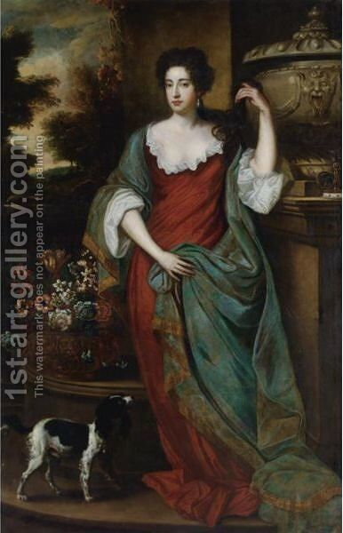 Portrait Of A Noblewoman by (after) Kneller, Sir Godfrey - Reproduction Oil Painting