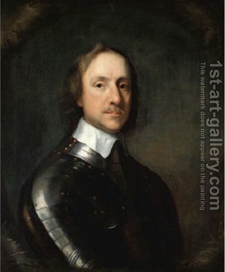 Portrait Of Oliver Cromwell, Lord Protector Of England by (after) Robert Walker - Reproduction Oil Painting