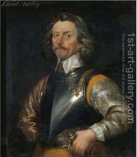 Portrait Of James Astley, First Baron Astley Of Reading (1579-1652) by (after) William Dobson - Reproduction Oil Painting