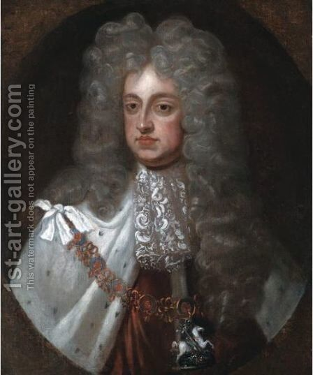Portrait Of King George II (1683-1760) by (after) Kneller, Sir Godfrey - Reproduction Oil Painting