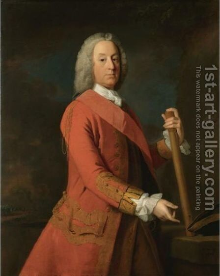 Portrait Of General Sir James Campbell Of Lawers by Allan Ramsay - Reproduction Oil Painting