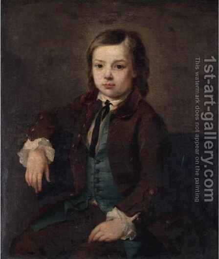 Portrait Of A Young Boy by (after) Nathaniel Hone - Reproduction Oil Painting