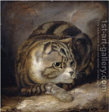 A Wild Cat by (after) James Northcote - Reproduction Oil Painting