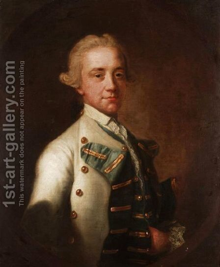 Portrait Of Captain Smith R. N. In Naval Uniform by (after) Francis Cotes - Reproduction Oil Painting