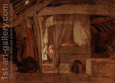 The Bed In The Attic by (after) John Linnell - Reproduction Oil Painting