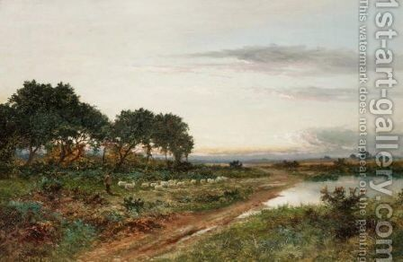 Landscape With A Shepherd And His Flock by Daniel Sherrin - Reproduction Oil Painting