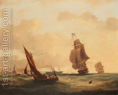 Shipping Of The Coast by (after) Frederick Calvert - Reproduction Oil Painting